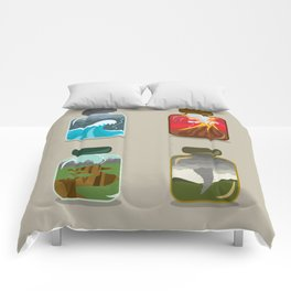 Disaster In A Jar Comforters