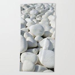 White stones Beach Towel