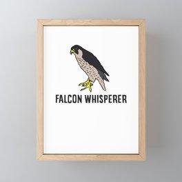 Peregrine Falcon Whisperer Framed Mini Art Print