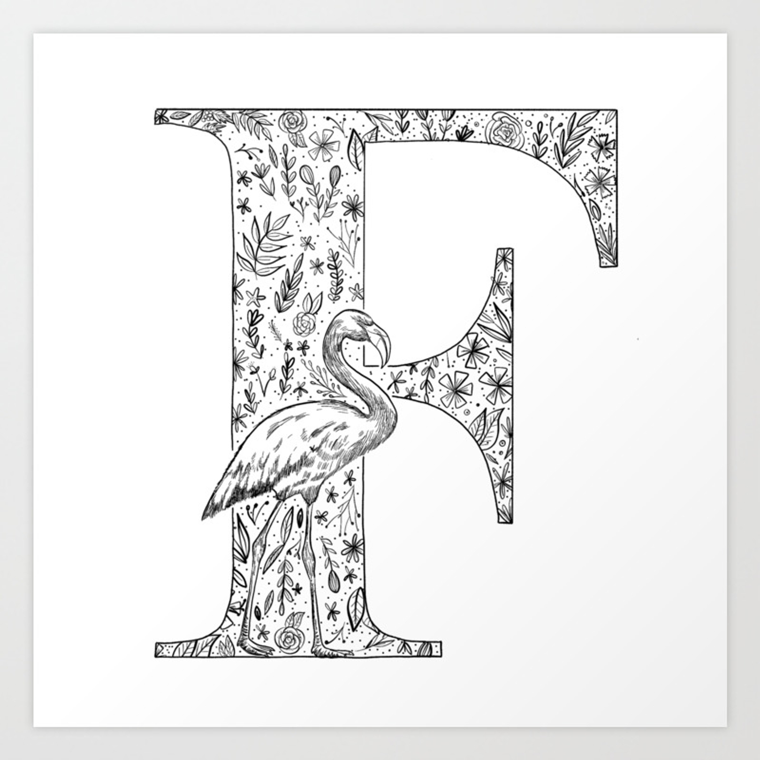 The Letter F Art Print By Enigma4 Society6