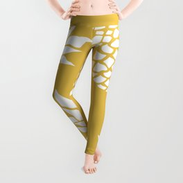 Summer, Tropical, Pineapples, Yellow Leggings