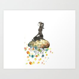 Yogini Color Art Print