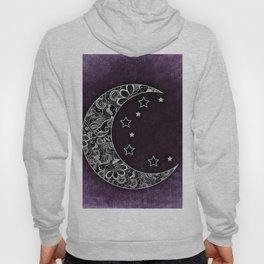 Purple Abstract Moon Hoody