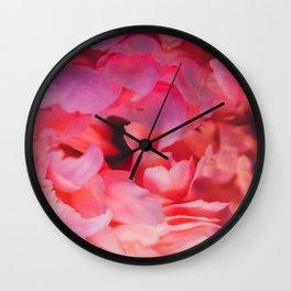 Love and the Peony Wall Clock