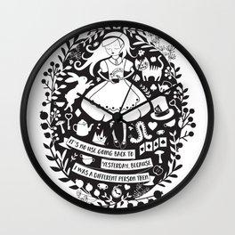 Alice in Wonderland Wall Clock