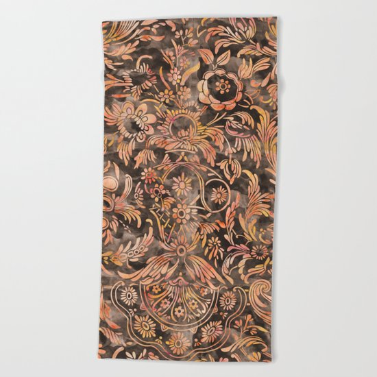 Damask Pattern 04 Beach Towel