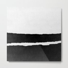 Black White Minimal Abstract Painting Nr.102 Metal Print