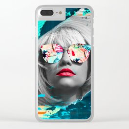 Colorful Woman Collage Clear iPhone Case