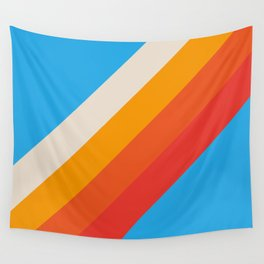 Gefjun - Classic Minimal Retro Summer Style Stripes Wall Tapestry
