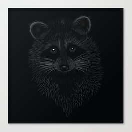 Raccoon Totem Animal Canvas Print