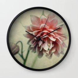 Pretty red columbine flower Wall Clock