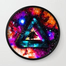 Zelda Triforce Triangle Nebula Wall Clock