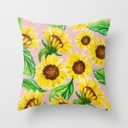 Sunny #society6 #decor #buyart Throw Pillow