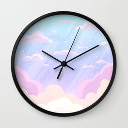 Pastel Heaven Wall Clock