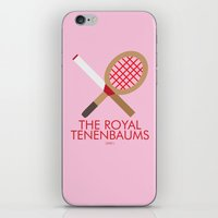 royal tenenbaums iPhone & iPod Skins featuring The Royal Tenenbaums by Marcus Coleman