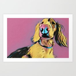 Toph The Dachshund Art Print