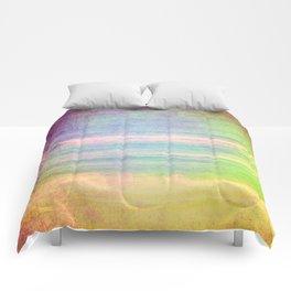 Abstract grunge ocean view Comforters