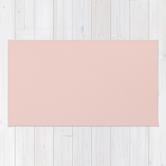 Plain Pastel Pink Color Background Rug By Tafida