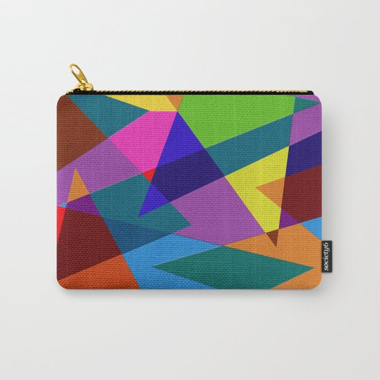 Abstract #342 Shapes & Colors Carry-All Pouch