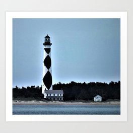 Cape Lookout Lighthouse Art Print