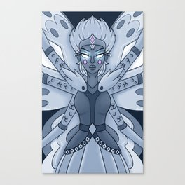 Moon Butterfly Form Canvas Print