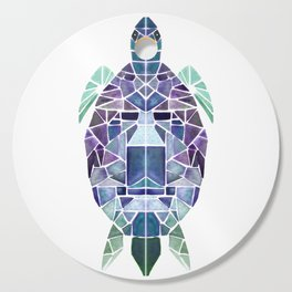 Purple mosaic turtle Cutting Board