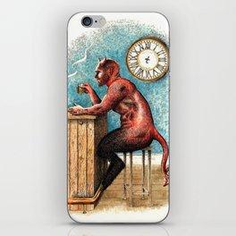 The Demon Drinks iPhone Skin