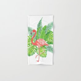 Flamingo Tropicale Hand & Bath Towel