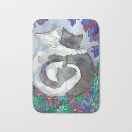Cats With Soft Hearts Bath Mat