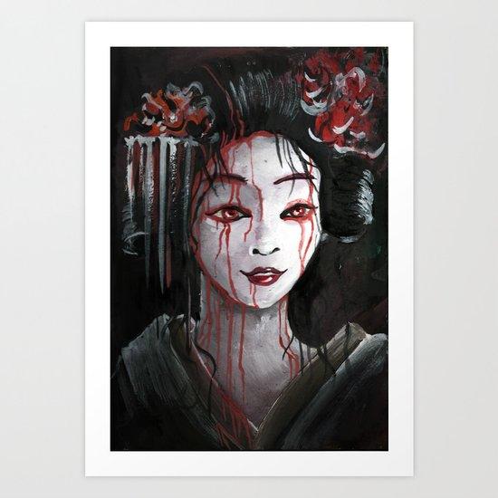 Geisha in Blood: The unwiling Concubine Art Print