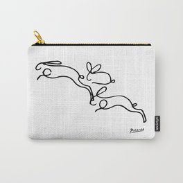Rabbits Line Drawing, Animals Sketch Artwork, Pablo Picasso, Tshirts, Prints, Posters, Bags, Women, Carry-All Pouch