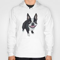 boston Hoodies featuring Boston Terrier by PaperTigress