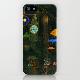 'Fish Magic No. 2' Aquatic, Celestial, Floral, Earthly Entities Portrait by Paul Klee iPhone Case