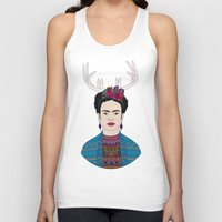 frida Tank Tops featuring DEER FRIDA by Bianca Green