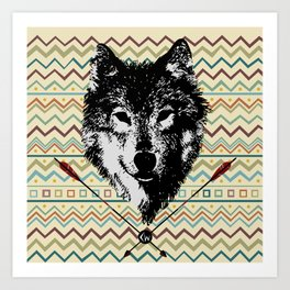 Spirit of the Wolf Art Print