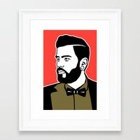 hipster Framed Art Prints featuring hipster by mark ashkenazi