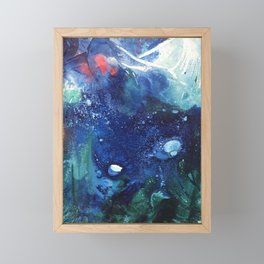 Bright Ocean Life, Tiny World Collection Framed Mini Art Print