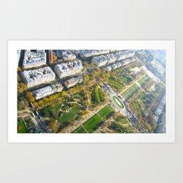 Champs Des Mars Below Art Print