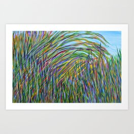 Tropical Green Abstract, Seagrass Color Study, Contemporary Colorful Home Decor Art Print