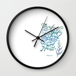 Joined Together - Mark 10:9 Wall Clock