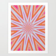 orange splat Art Print