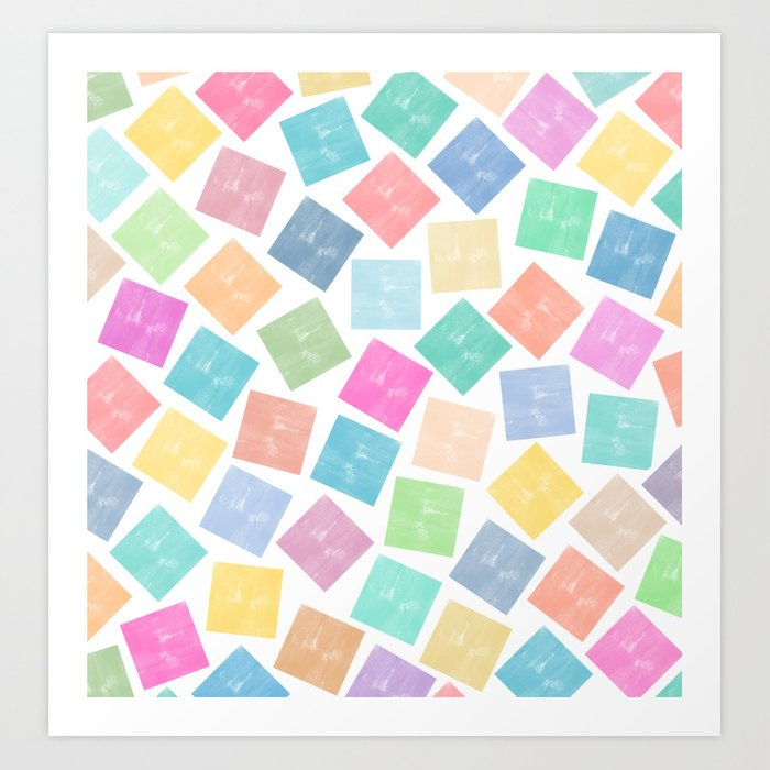 Colorful Geometric Patterns II Art Print