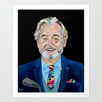 bill murray Art Prints featuring BILL MURRAY by Jordan Soliz