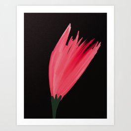 Simple floral beauty Art Print