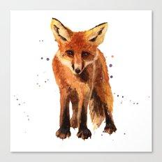 Watercolor FOX, FOX painting, animal art, watercolor animals, woodland nursery Canvas Print