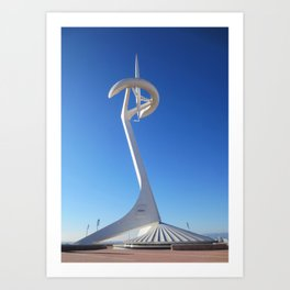 Montjuïc Communications Tower by Santiago Calatrava Art Print