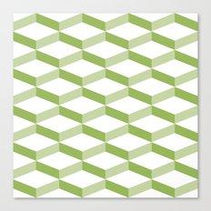 3D 2 Greenery Canvas Print