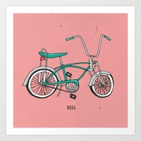 boss Art Prints featuring Boss. by shoooes