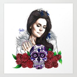 Lady Of Roses Art Print