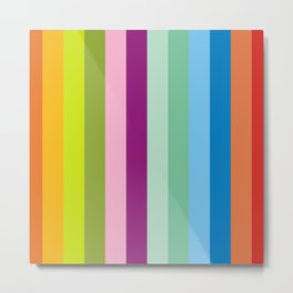 Neon bright stripes Metal Print